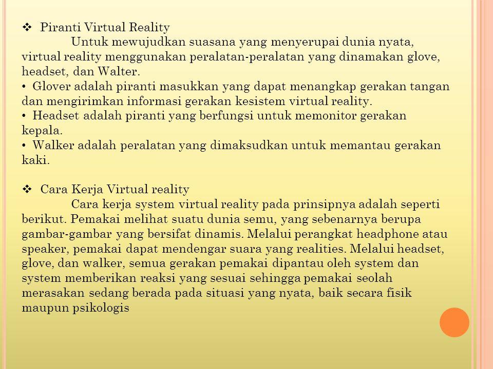 Piranti Virtual Reality