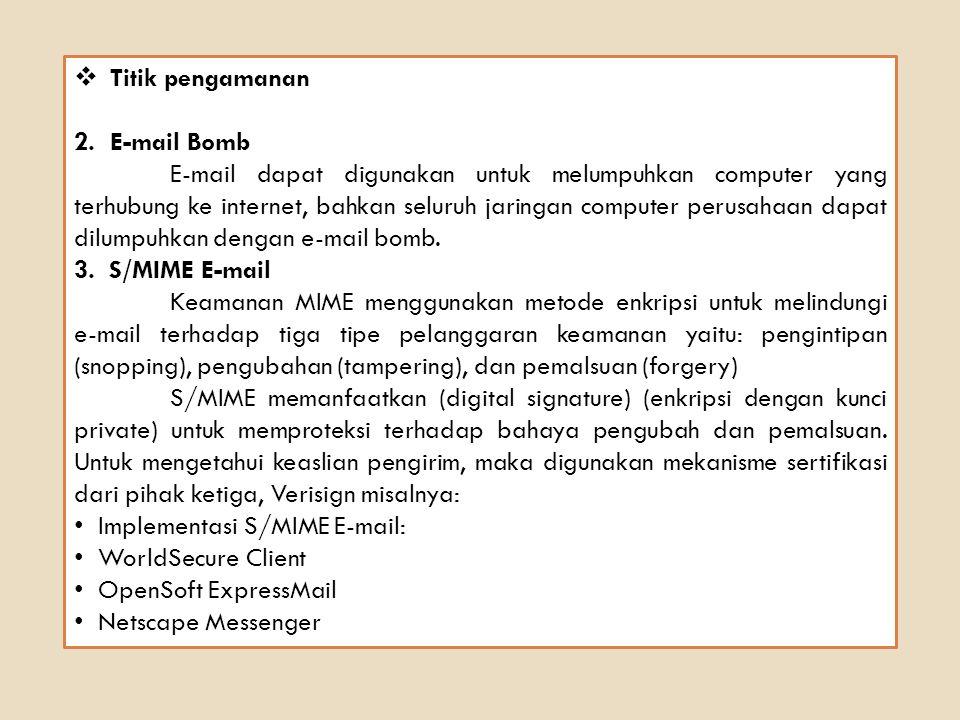 Titik pengamanan E-mail Bomb.