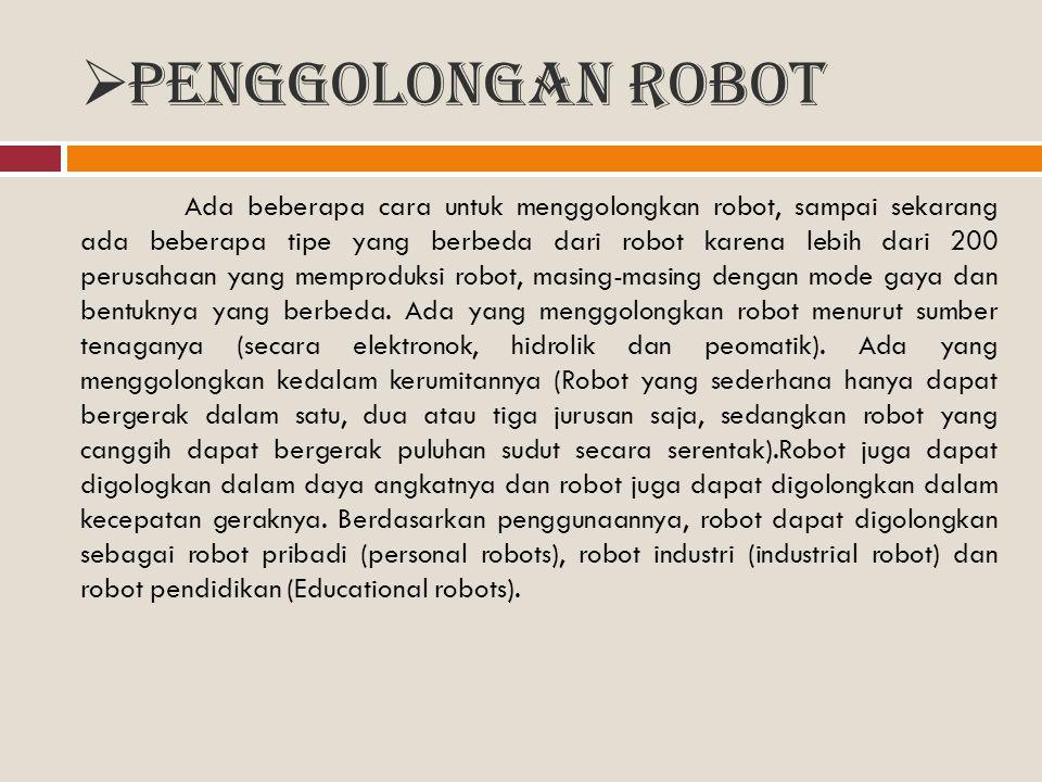 Penggolongan Robot