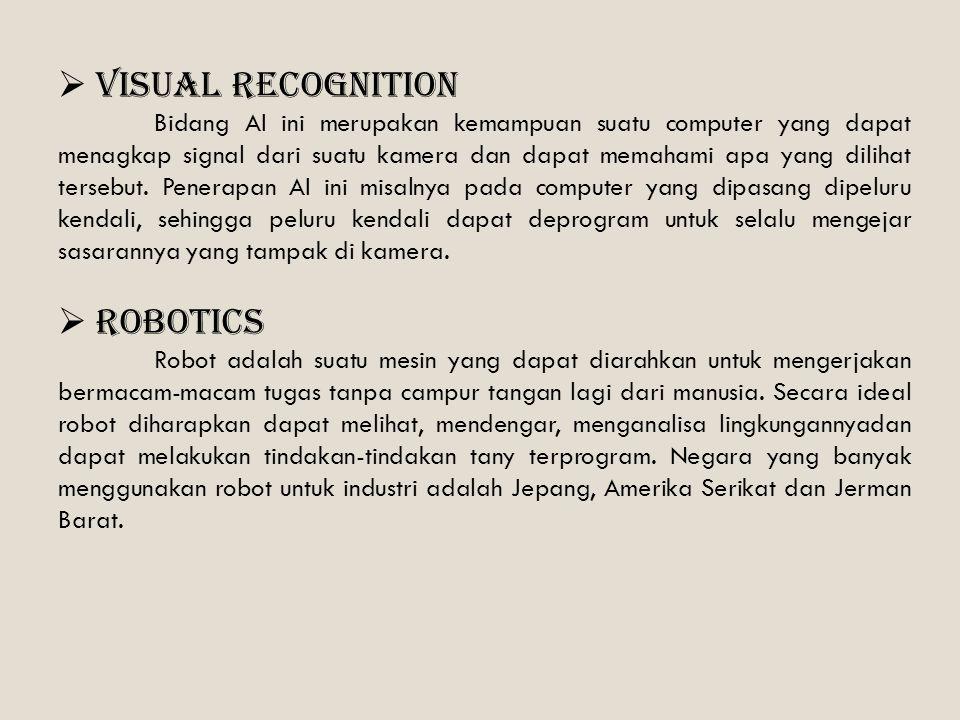 Visual recognition Robotics