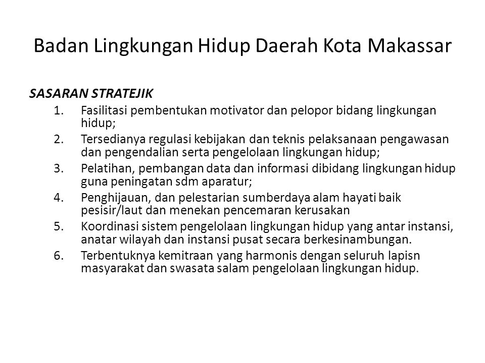 Badan Lingkungan Hidup Daerah Kota Makassar