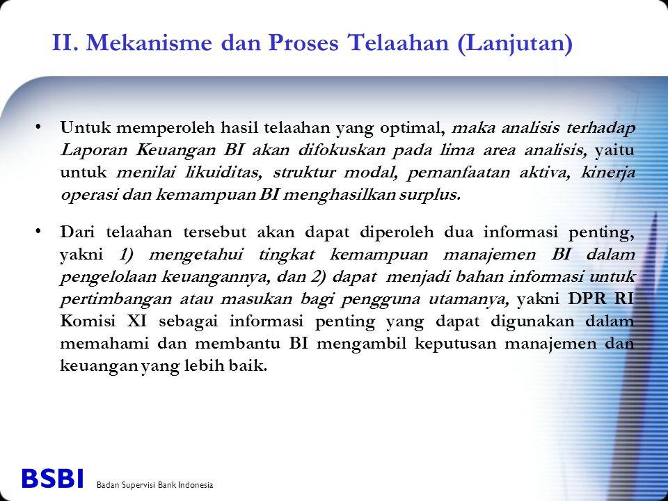 II. Mekanisme dan Proses Telaahan (Lanjutan)