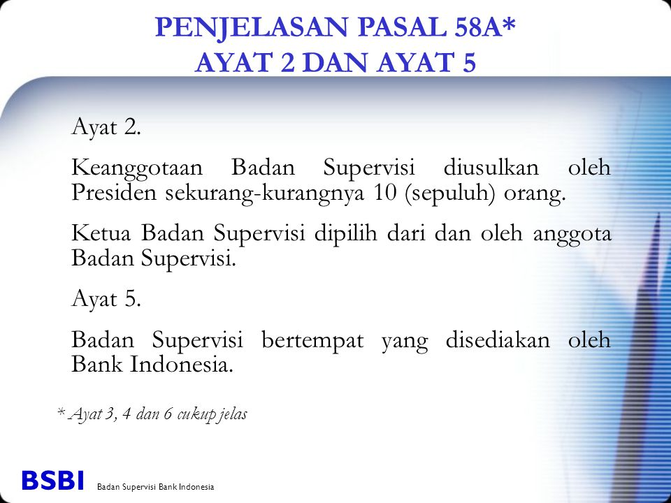 PENJELASAN PASAL 58A* AYAT 2 DAN AYAT 5
