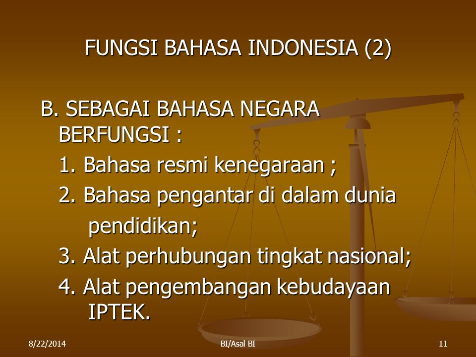 FUNGSI BAHASA INDONESIA (2)