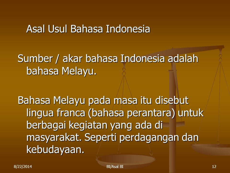 Asal Usul Bahasa Indonesia