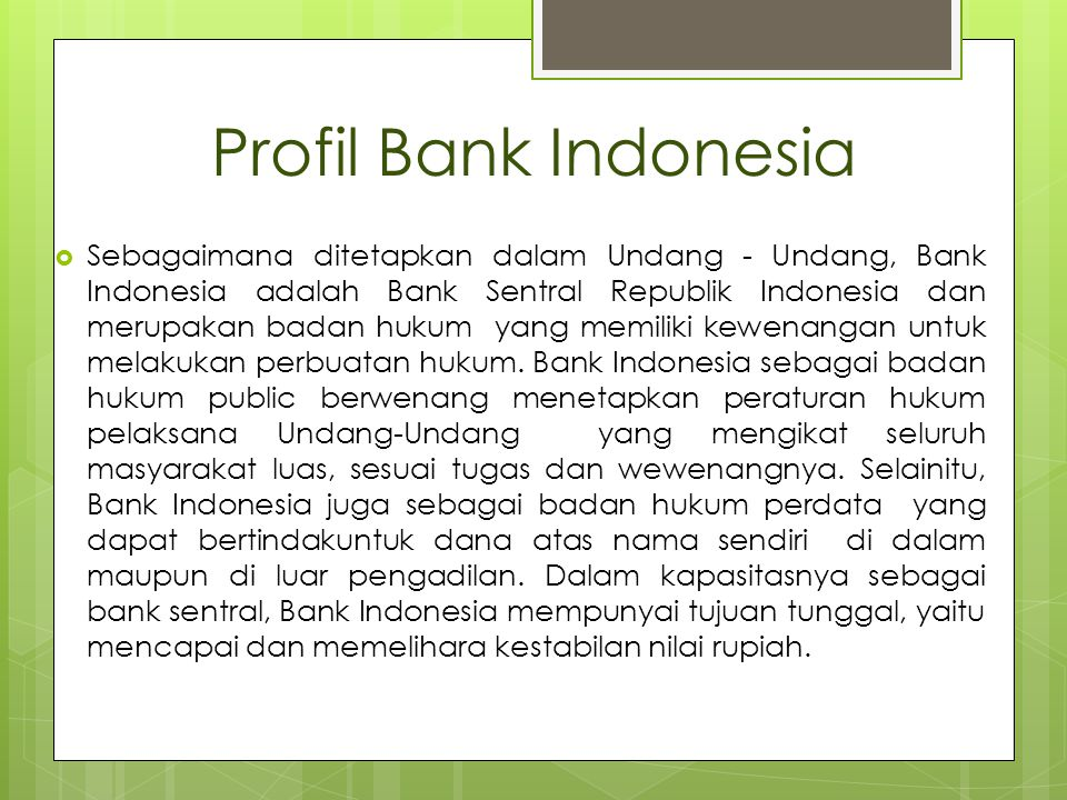 Profil Bank Indonesia