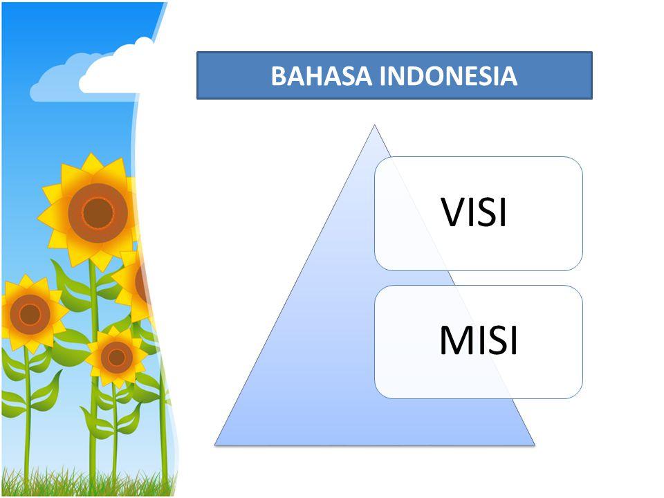 BAHASA INDONESIA VISI MISI