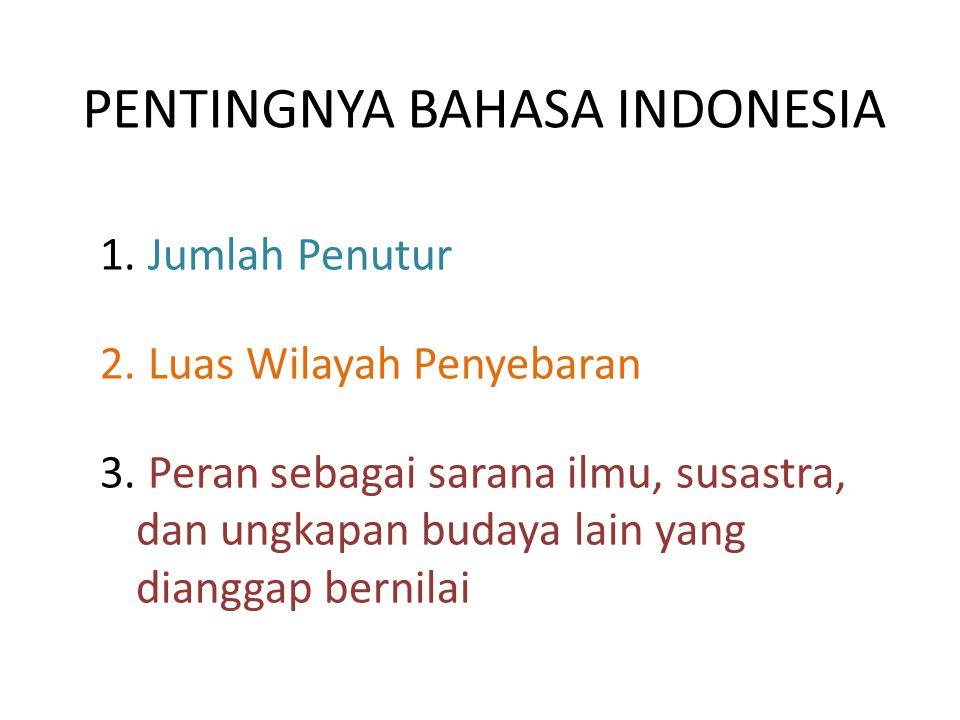 PENTINGNYA BAHASA INDONESIA