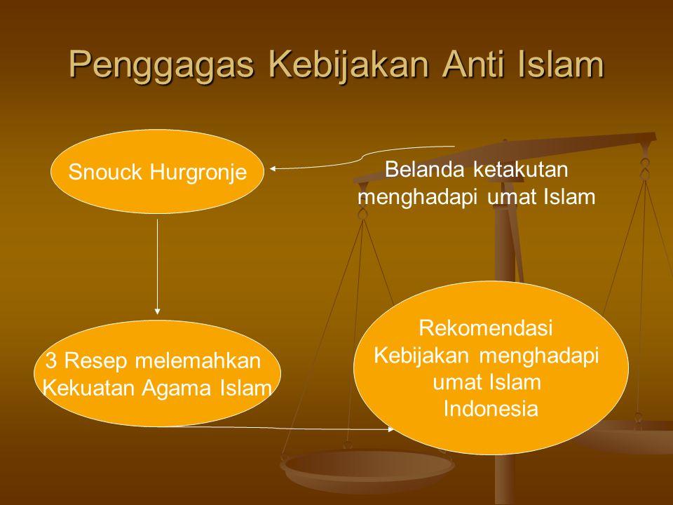 Penggagas Kebijakan Anti Islam