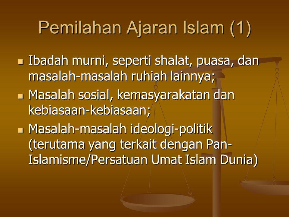 Pemilahan Ajaran Islam (1)