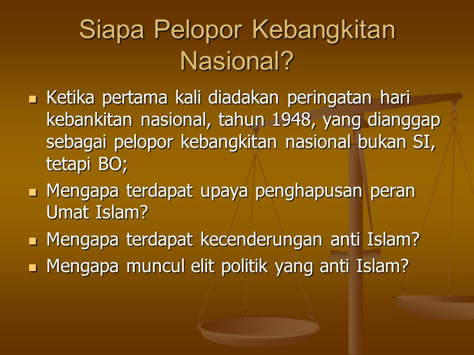Siapa Pelopor Kebangkitan Nasional