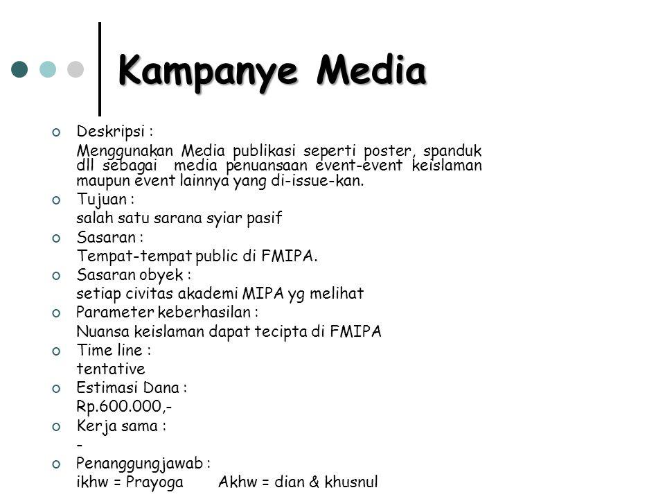 Kampanye Media Deskripsi :