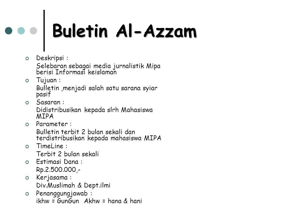 Buletin Al-Azzam Deskripsi :
