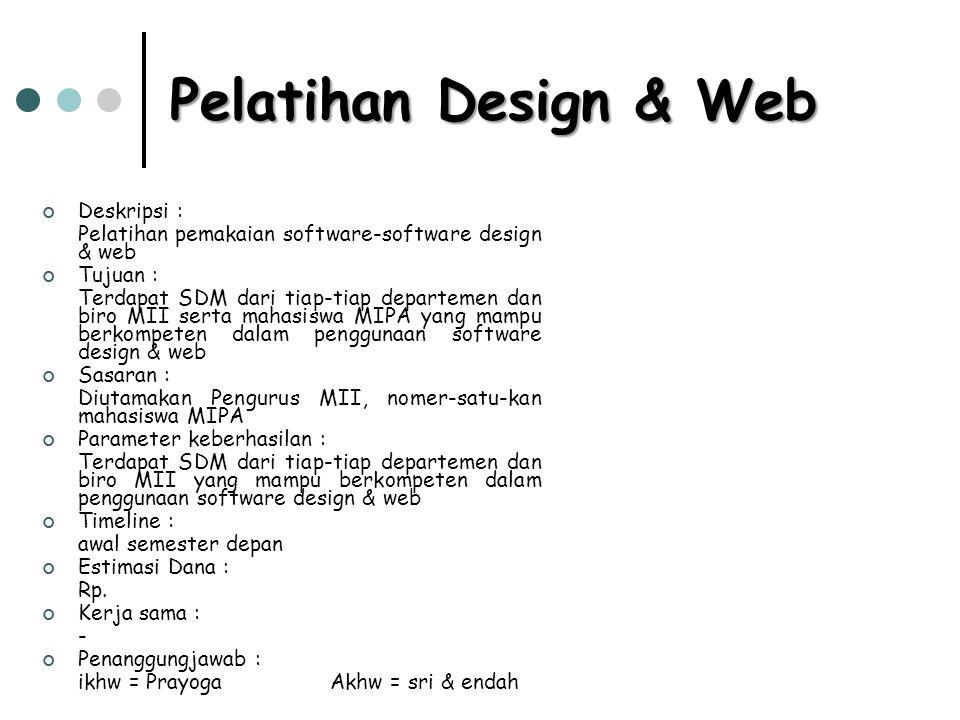 Pelatihan Design & Web Deskripsi :