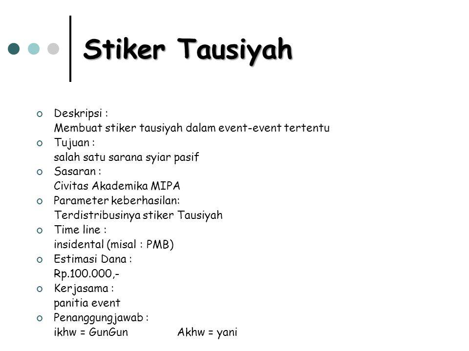 Stiker Tausiyah Deskripsi :