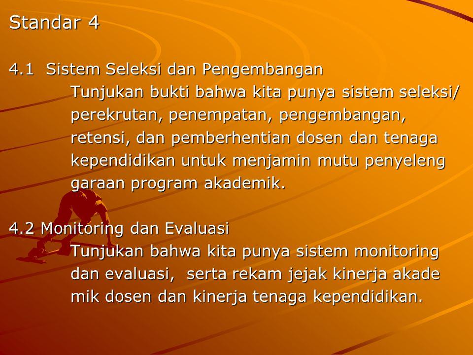 Standar 4 4.1 Sistem Seleksi dan Pengembangan