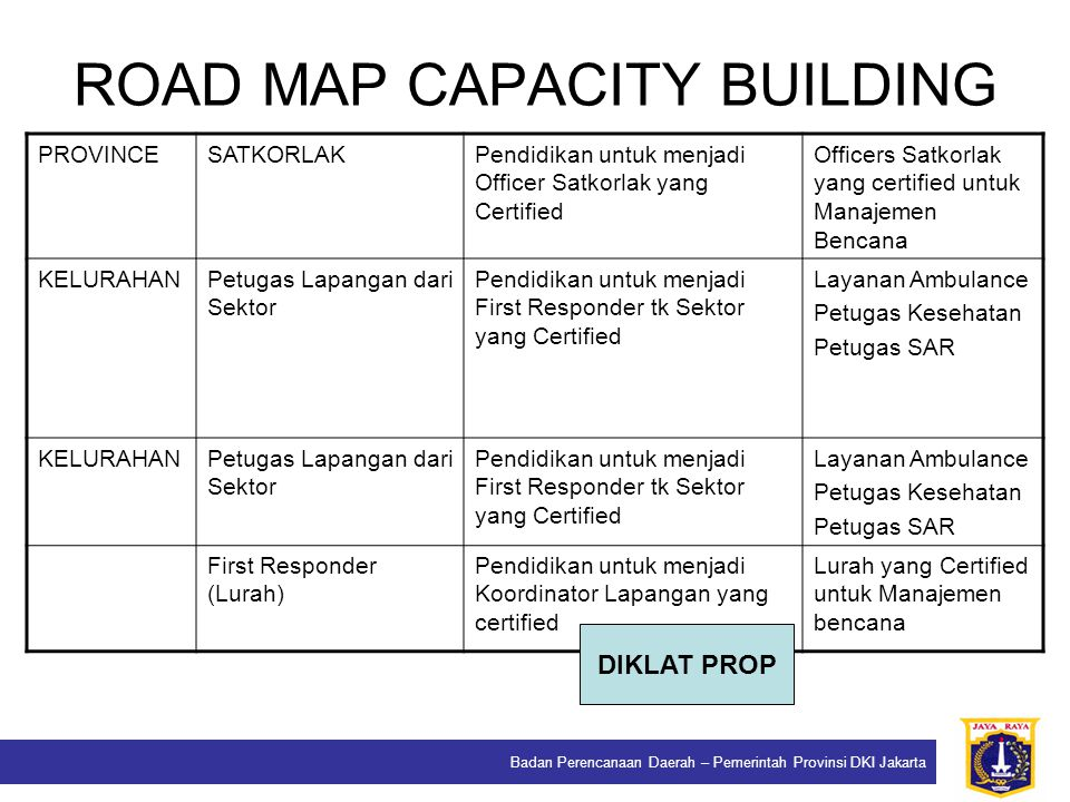 ROAD MAP CAPACITY BUILDING