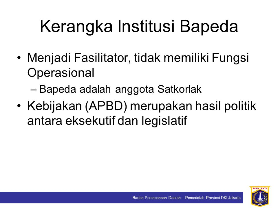 Kerangka Institusi Bapeda
