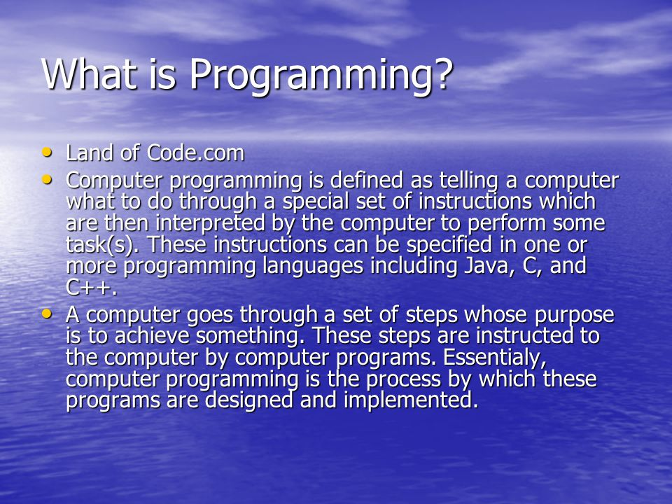 What is Programming Land of Code.com