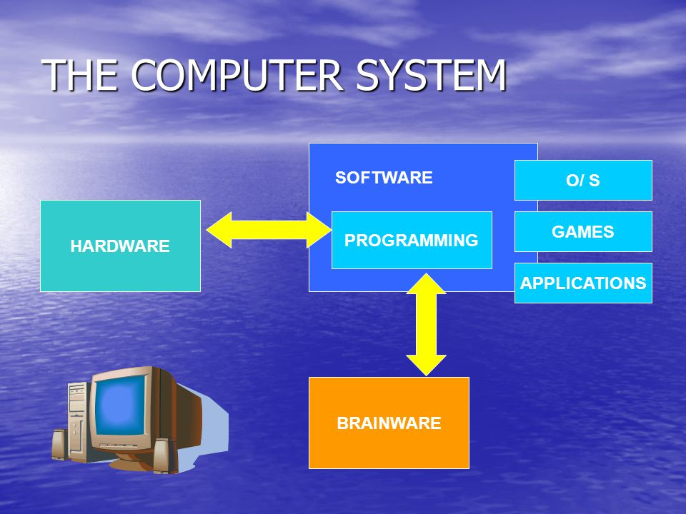THE COMPUTER SYSTEM SOFTWARE O/ S HARDWARE GAMES PROGRAMMING
