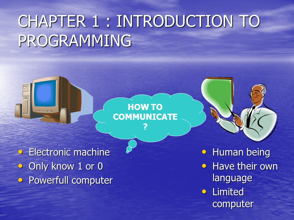 CHAPTER 1 : INTRODUCTION TO PROGRAMMING