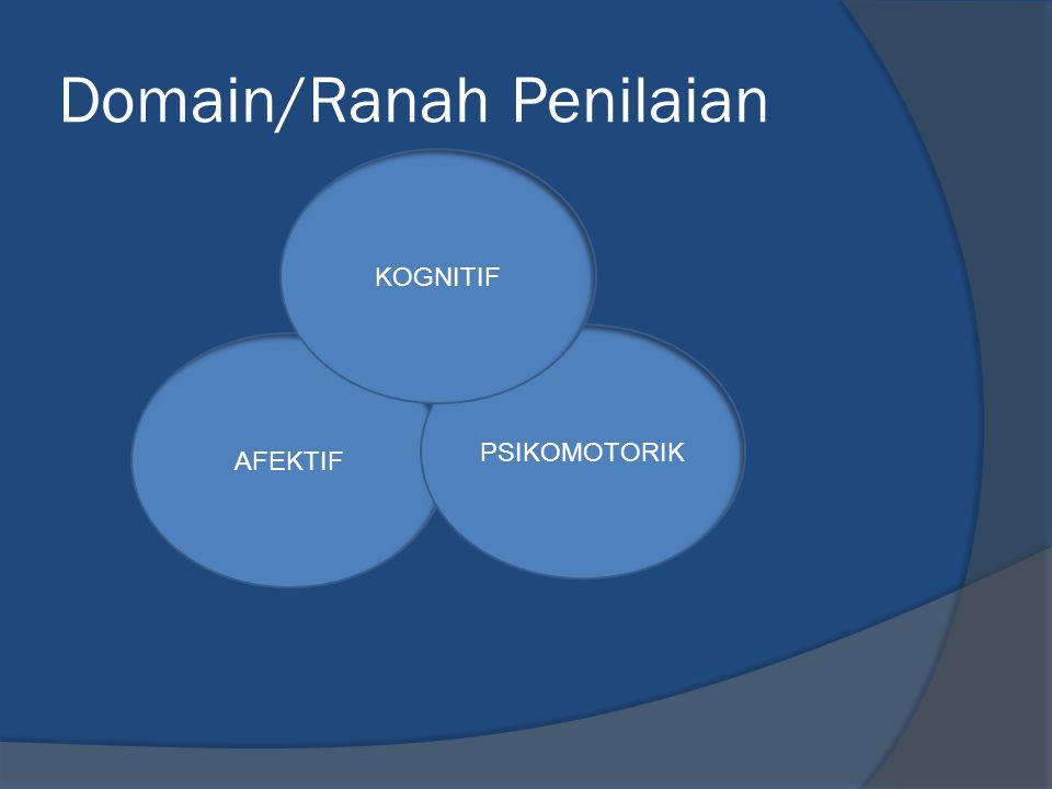 Domain/Ranah Penilaian