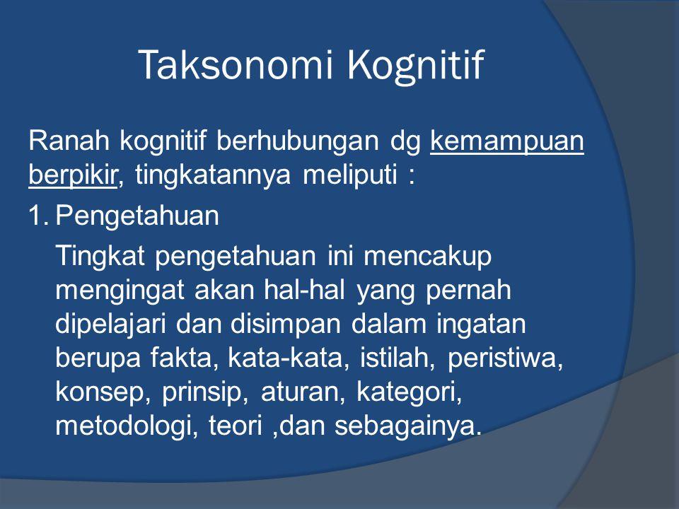 Taksonomi Kognitif