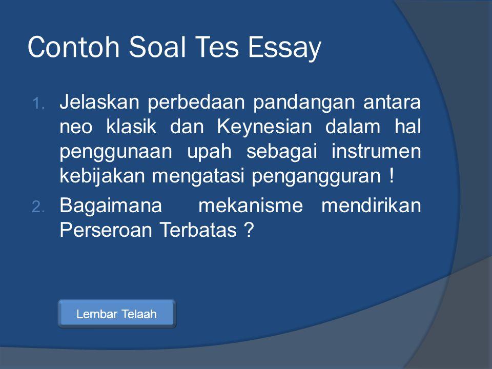 Contoh Soal Tes Essay