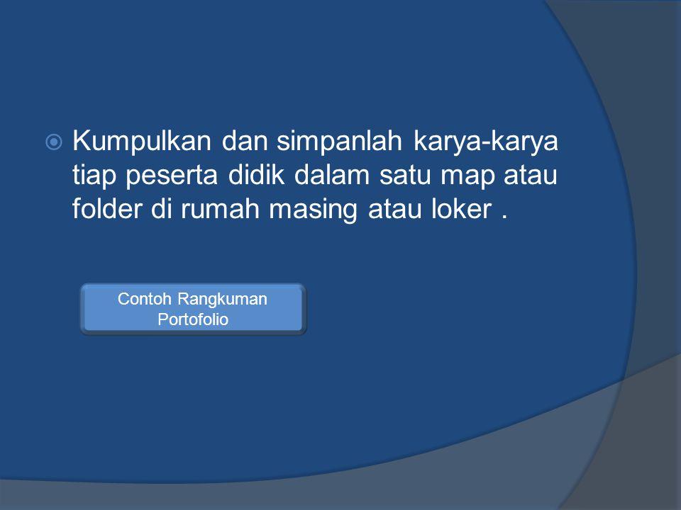 Contoh Rangkuman Portofolio