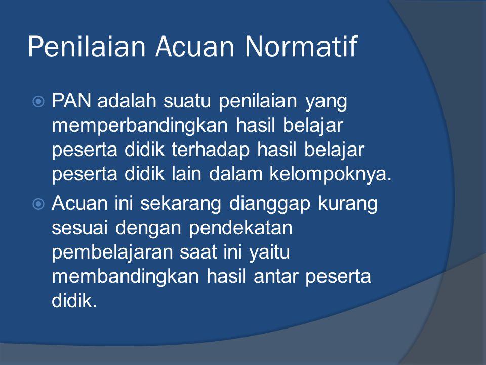 Penilaian Acuan Normatif