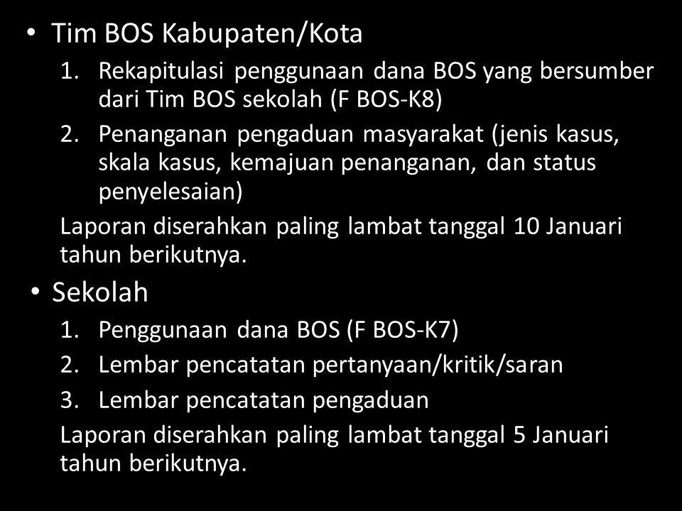 Tim BOS Kabupaten/Kota