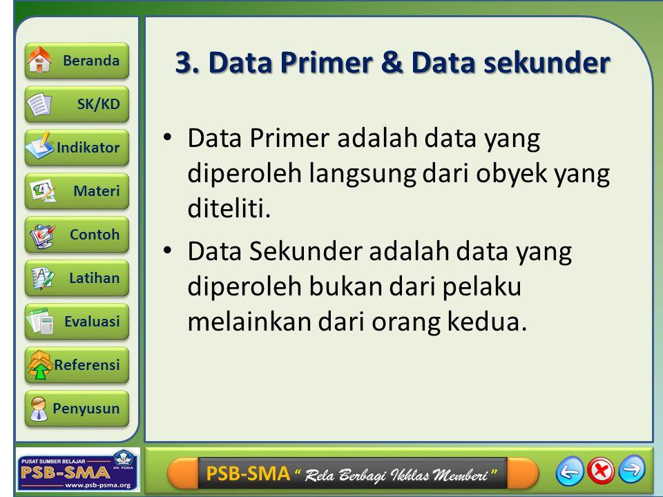 3. Data Primer & Data sekunder
