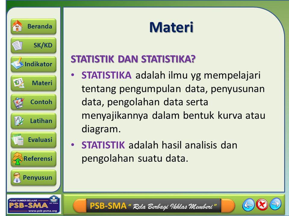 Materi STATISTIK DAN STATISTIKA