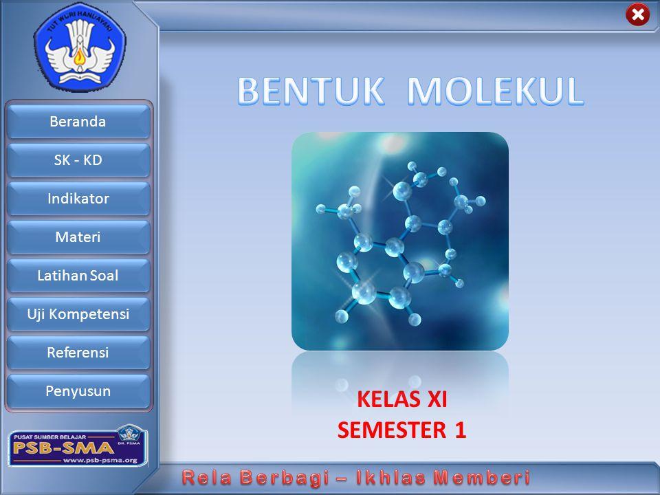BENTUK MOLEKUL KELAS XI SEMESTER 1