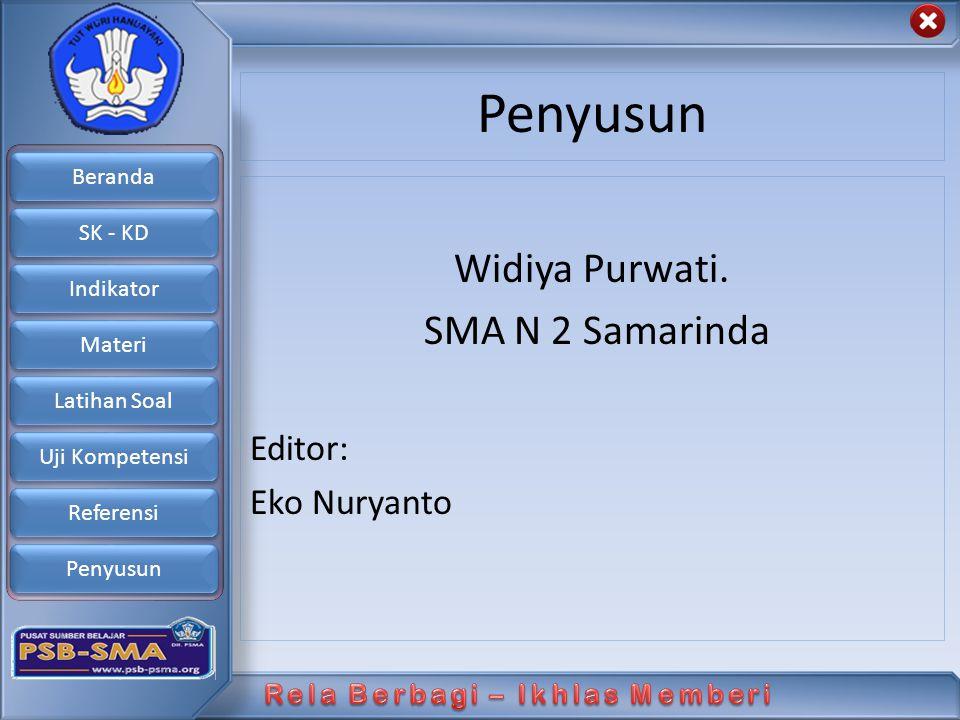 Penyusun Widiya Purwati. SMA N 2 Samarinda Editor: Eko Nuryanto