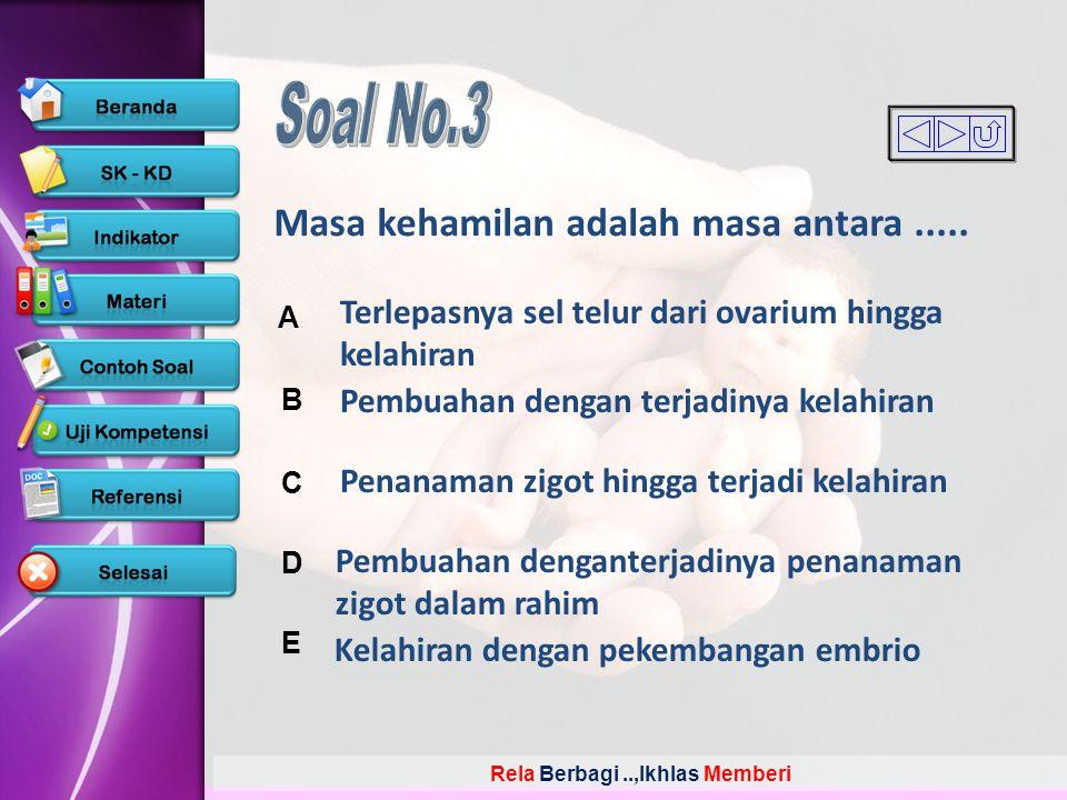 Soal No.3 Masa kehamilan adalah masa antara .....
