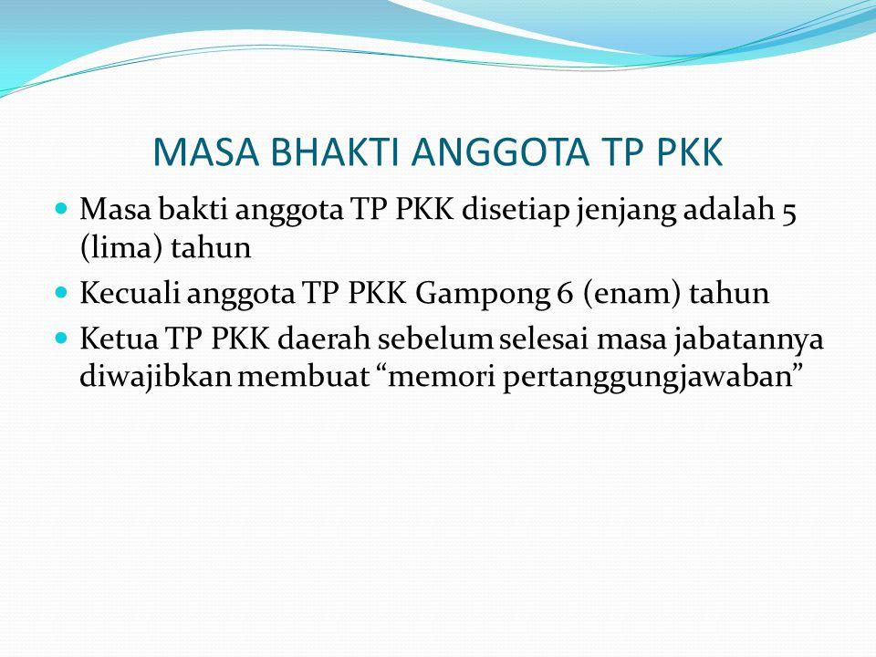 MASA BHAKTI ANGGOTA TP PKK
