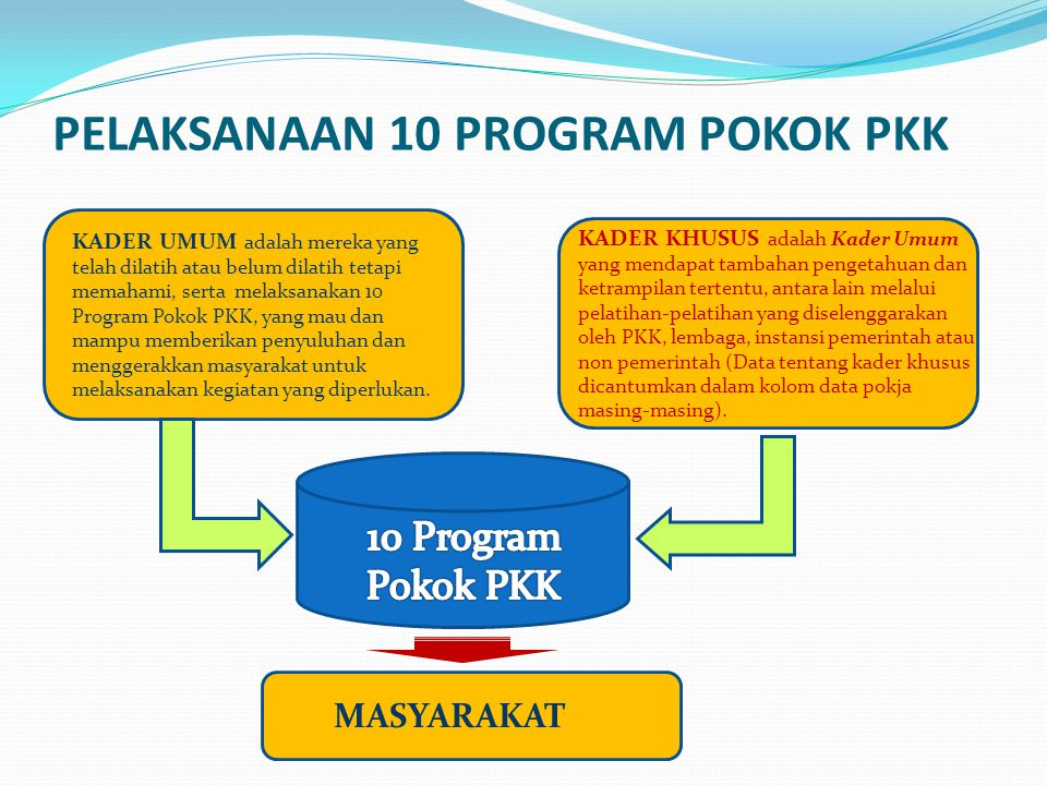 PELAKSANAAN 10 PROGRAM POKOK PKK