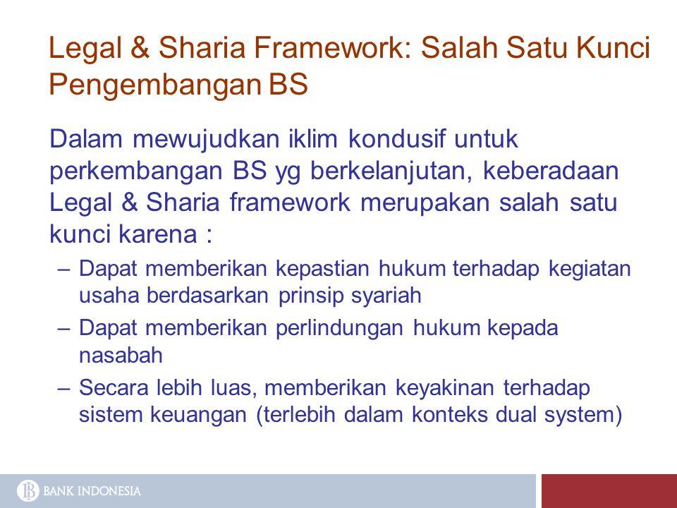 Legal & Sharia Framework: Salah Satu Kunci Pengembangan BS