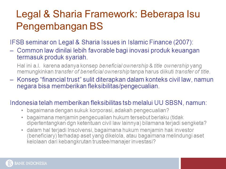 Legal & Sharia Framework: Beberapa Isu Pengembangan BS