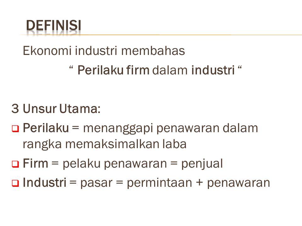 Perilaku firm dalam industri