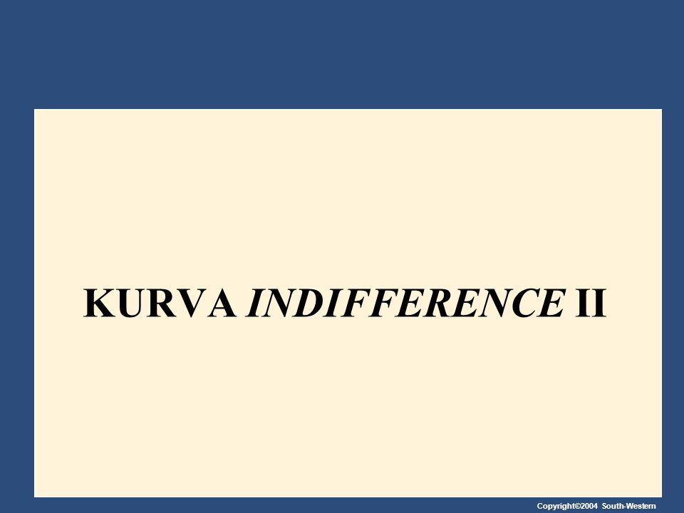 KURVA INDIFFERENCE II