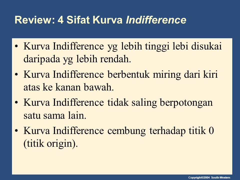 Review: 4 Sifat Kurva Indifference