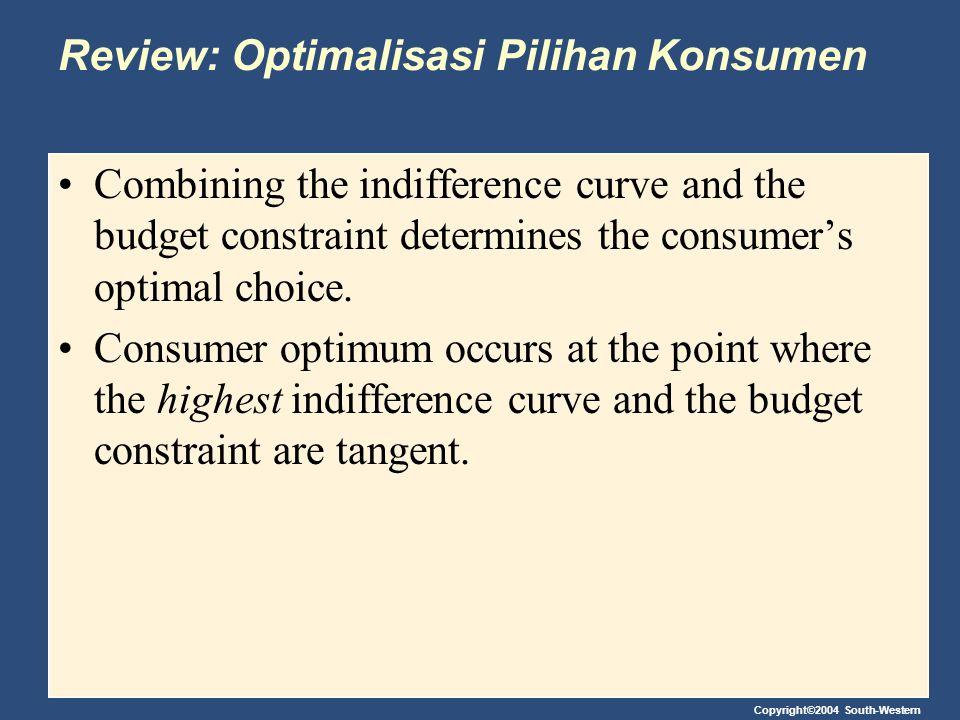 Review: Optimalisasi Pilihan Konsumen