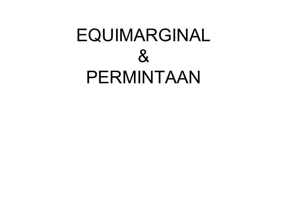 EQUIMARGINAL & PERMINTAAN