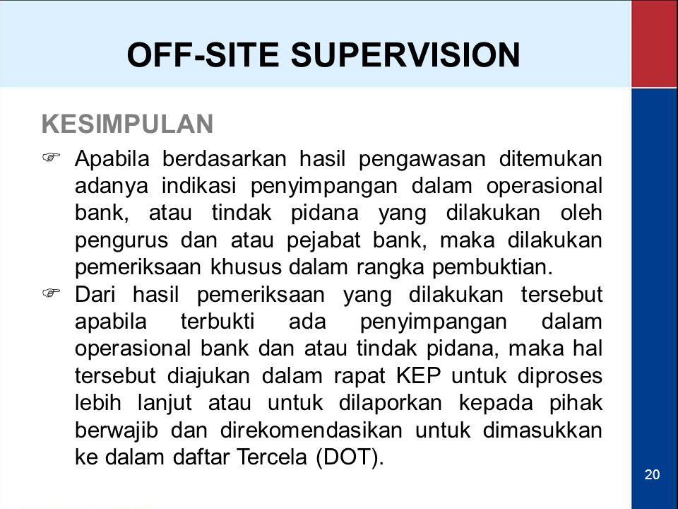 OFF-SITE SUPERVISION KESIMPULAN