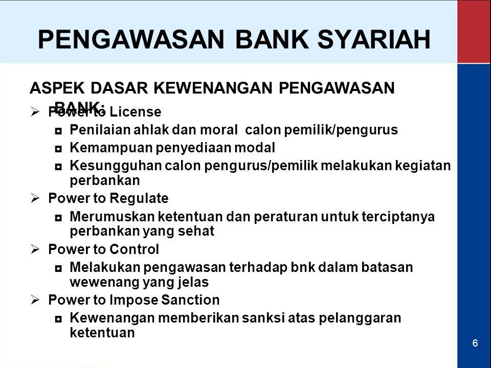 PENGAWASAN BANK SYARIAH