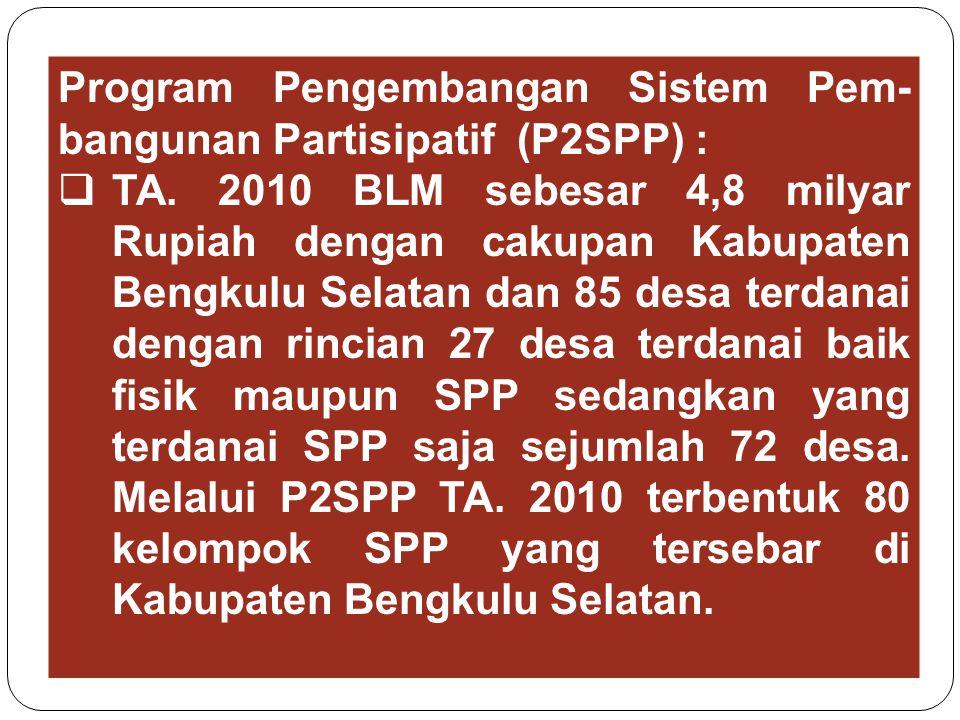 Program Pengembangan Sistem Pem-bangunan Partisipatif (P2SPP) :