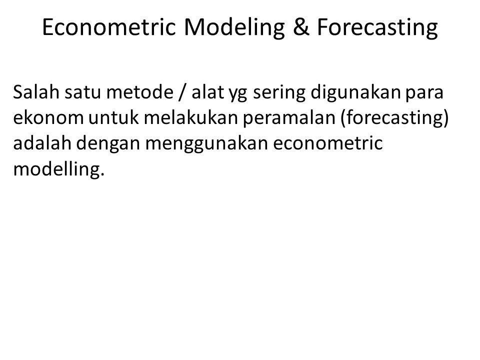 Econometric Modeling & Forecasting