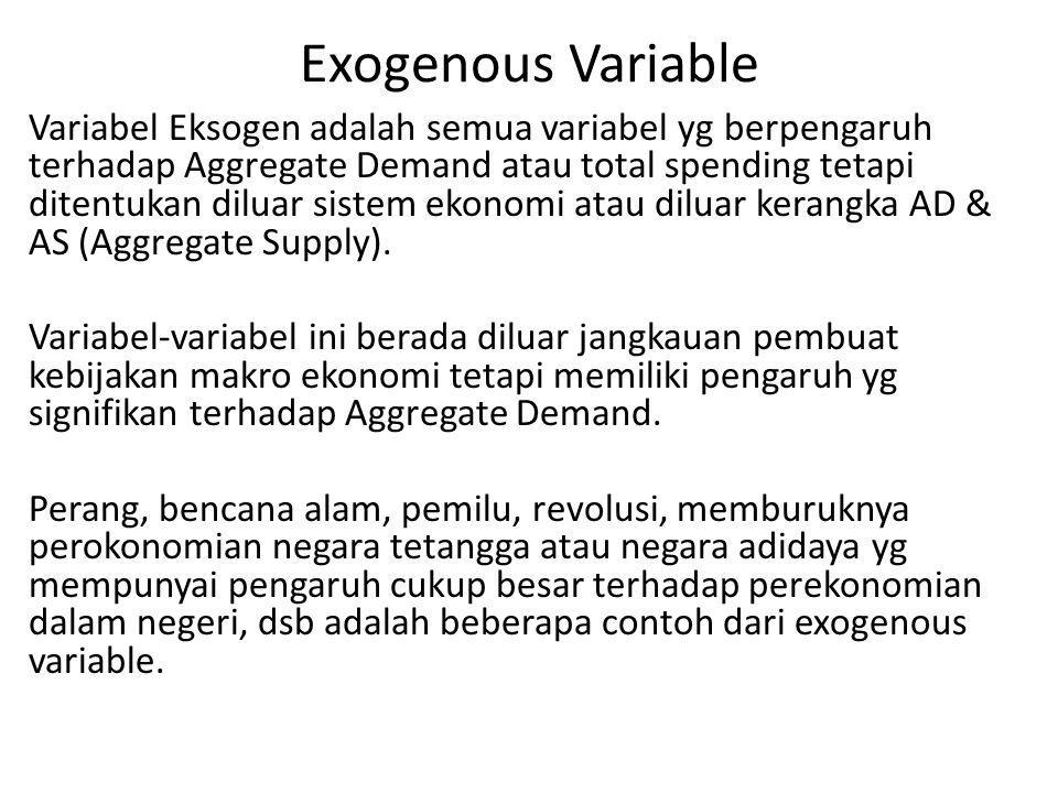 Exogenous Variable